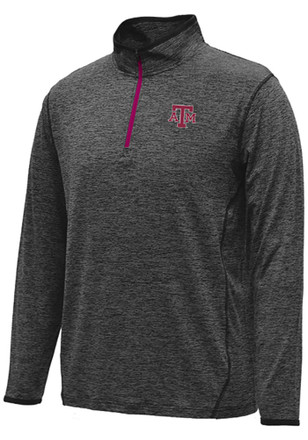 Colosseum Texas A&M Mens Black Action Pass 1/4 Zip Performance Pullover