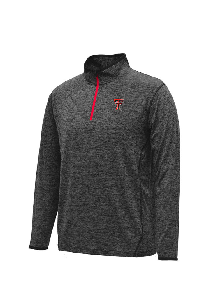 Colosseum Texas Tech Red Raiders Mens Black Action Pass 1/4 Zip Pullover - Image 1