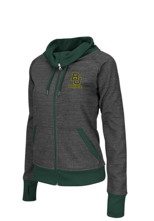Colosseum Baylor Bears Womens Velocity Grey Track Jacket