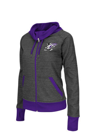 Colosseum K-State Wildcats Womens Velocity Grey Track Jacket