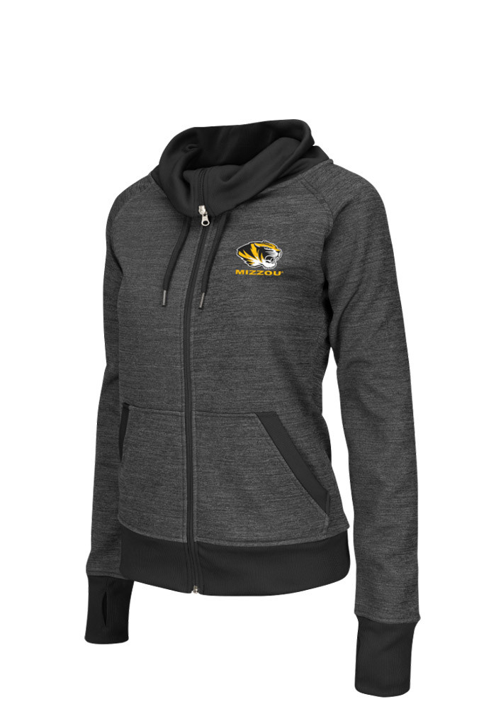Colosseum Missouri Tigers Womens Grey Velocity Long Sleeve Track Jacket - Image 1