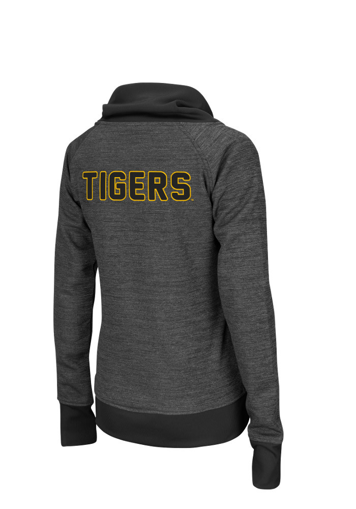 Colosseum Missouri Tigers Womens Grey Velocity Long Sleeve Track Jacket - Image 2