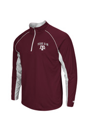 Colosseum Texas A&M Mens Maroon Lineman 1/4 Zip Performance Pullover