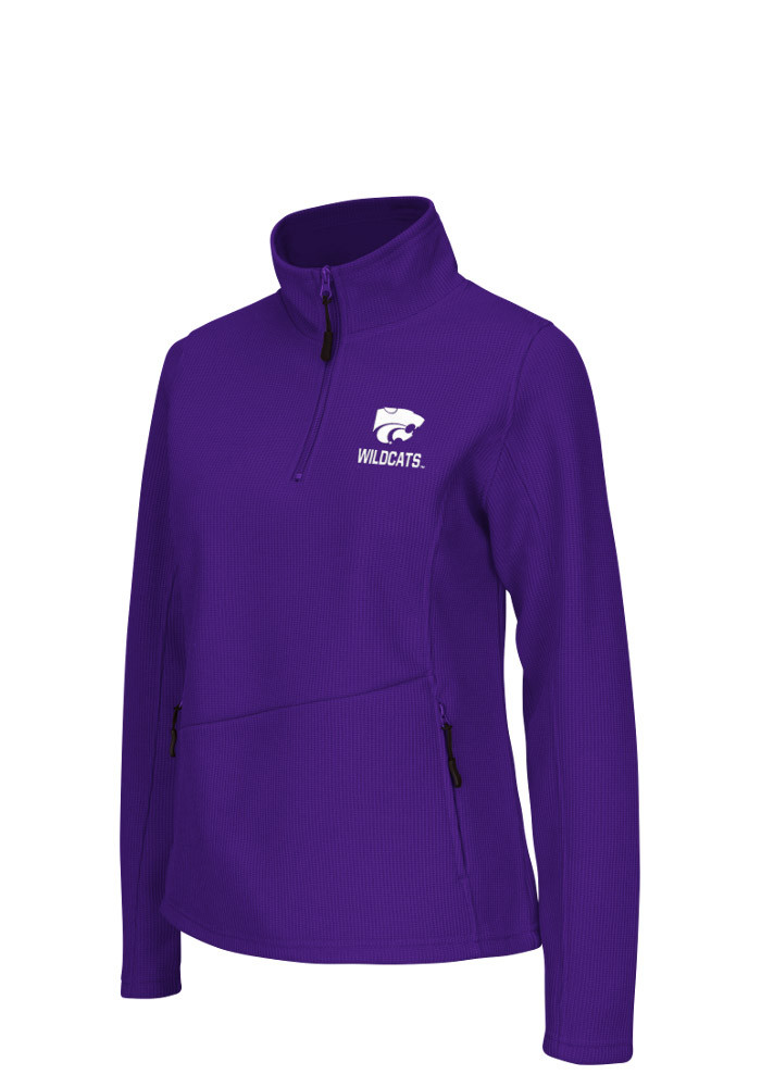 Colosseum K-State Wildcats Womens Purple Glide 1/4 Zip Pullover - Image 1