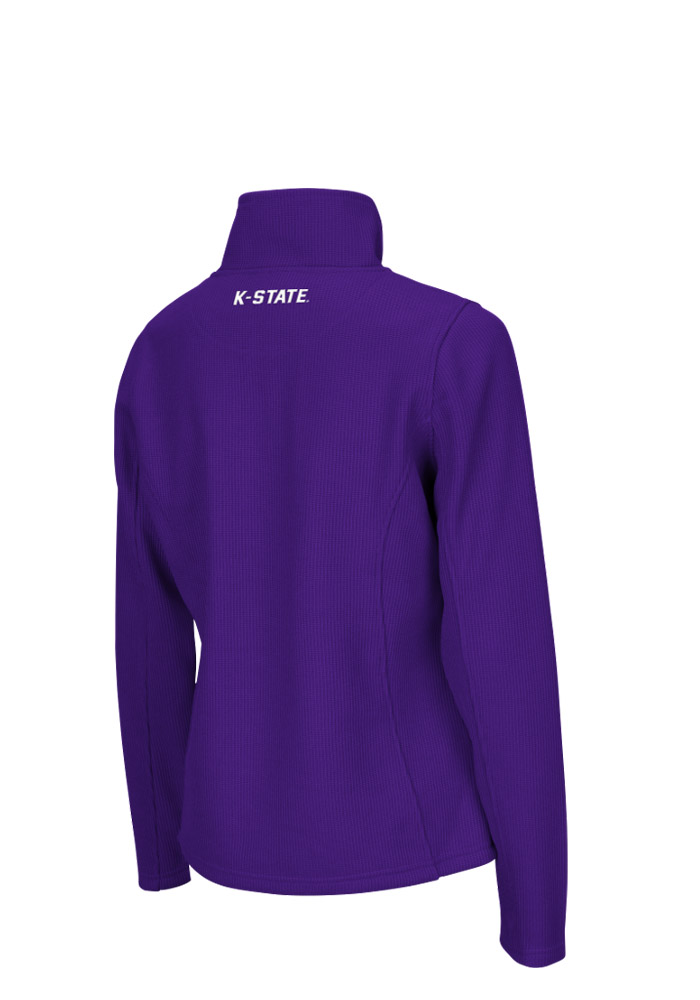 Colosseum K-State Wildcats Womens Purple Glide 1/4 Zip Pullover - Image 2