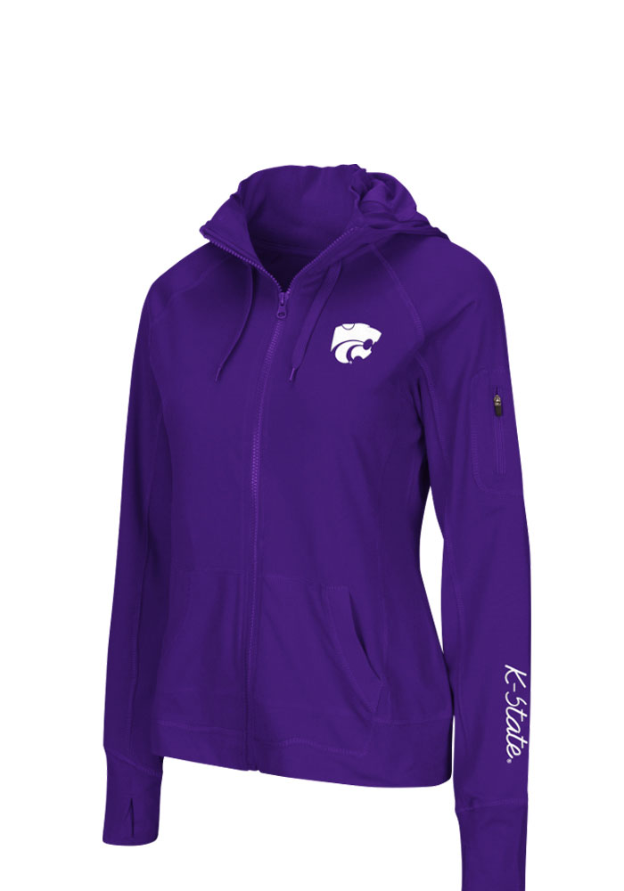 Colosseum K-State Wildcats Womens Purple Sway Long Sleeve Full Zip Jacket - Image 1