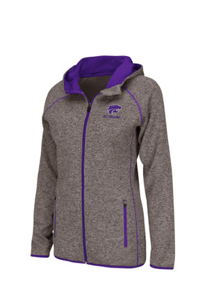 Colosseum K-State Wildcats Womens Grey Stance Full Zip Jacket
