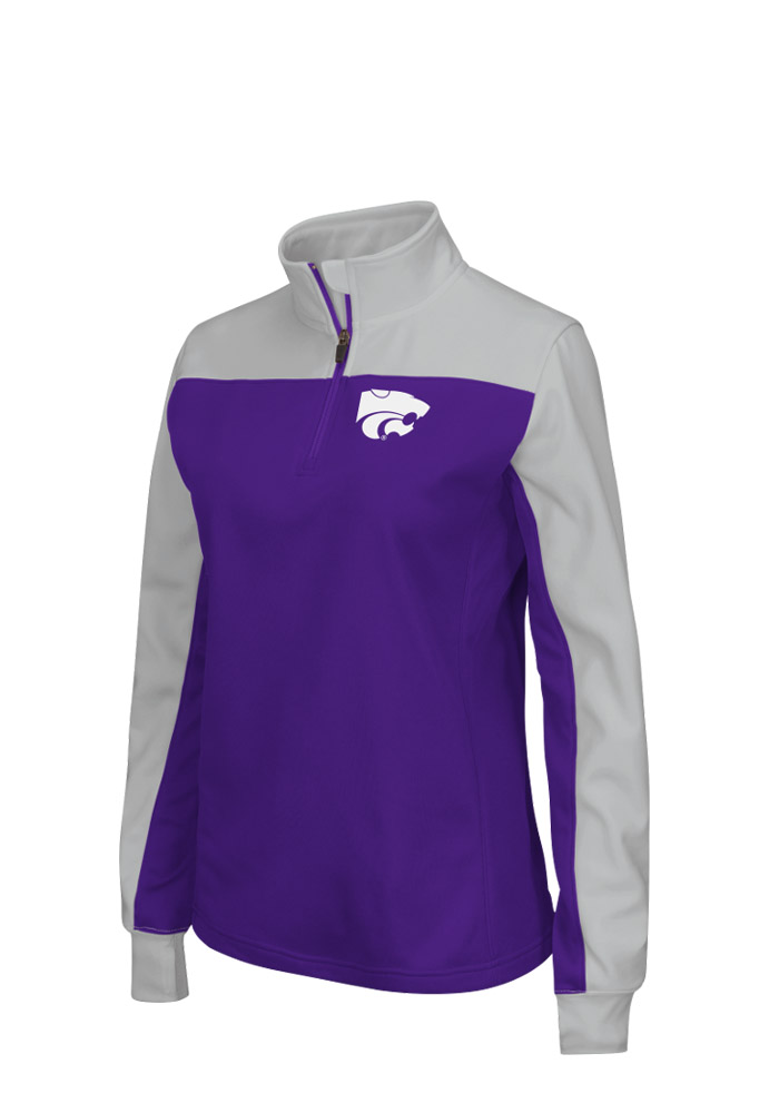 Colosseum K-State Wildcats Womens Purple Joust 1/4 Zip Pullover - Image 1