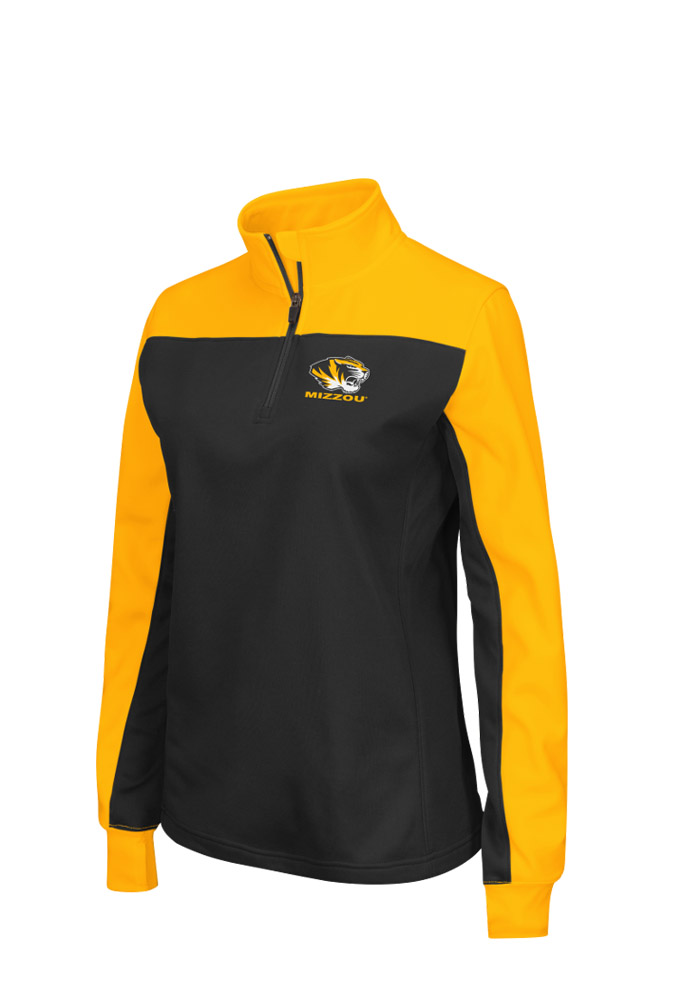 Colosseum Missouri Tigers Womens Joust Black 14 Zip Pullover 15033474