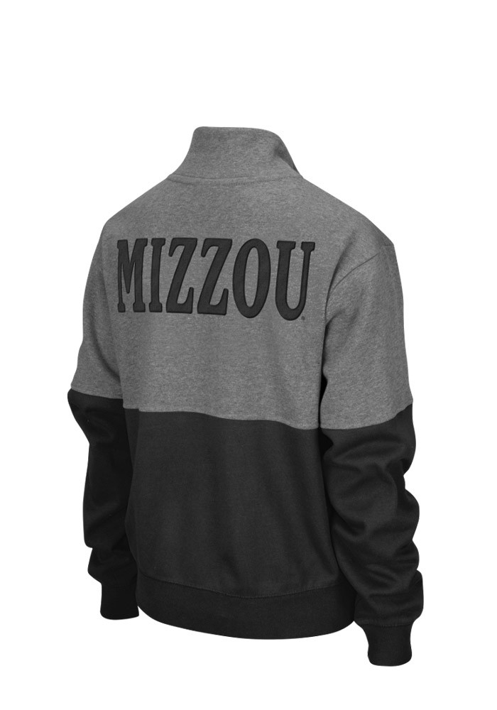 Colosseum Missouri Tigers Womens Grey Sprinter 1/4 Zip Pullover - Image 2