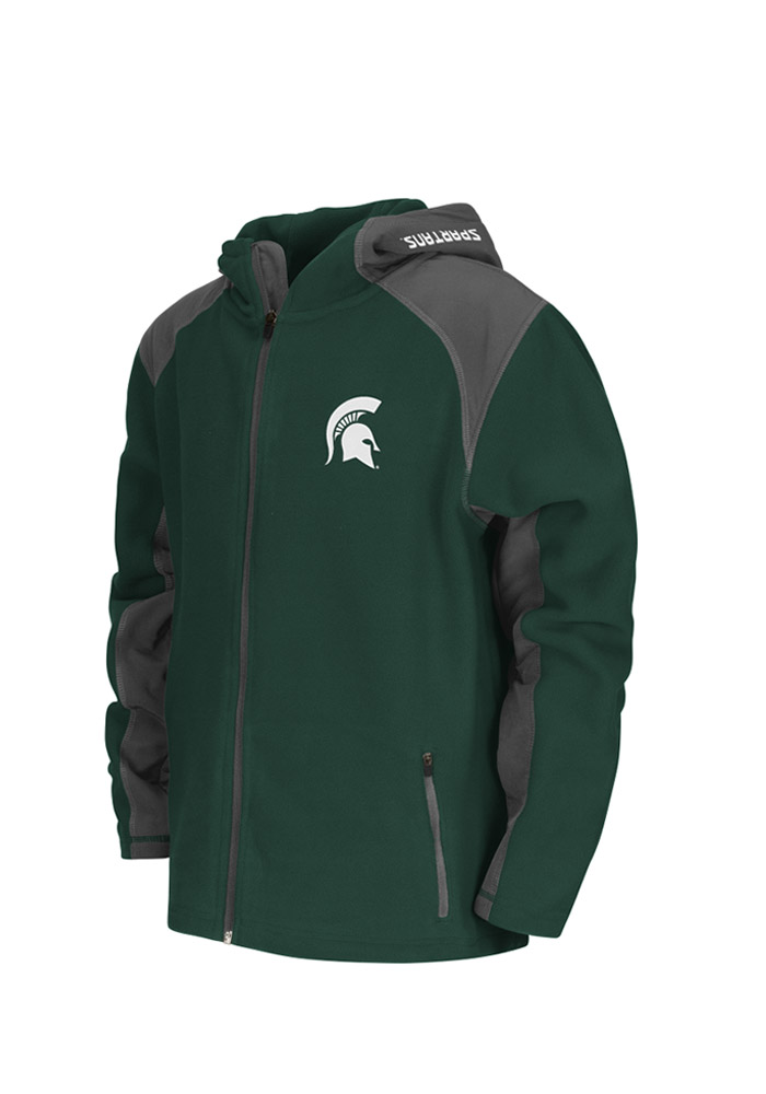 Colosseum Michigan State Spartans Youth Green Halfpipe Light Weight Jacket - Image 1