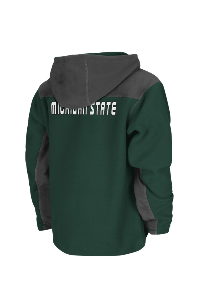 Colosseum Michigan State Spartans Youth Green Halfpipe Light Weight Jacket - Image 2