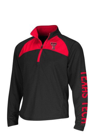 Colosseum Texas Tech Red Raiders Girls Black Youth Girls Flyer 1/4 Zip