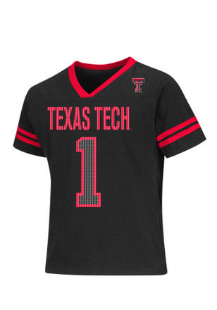 Colosseum Texas Tech Red Raiders Girls Black Youth Girls Game Play T-Shirt