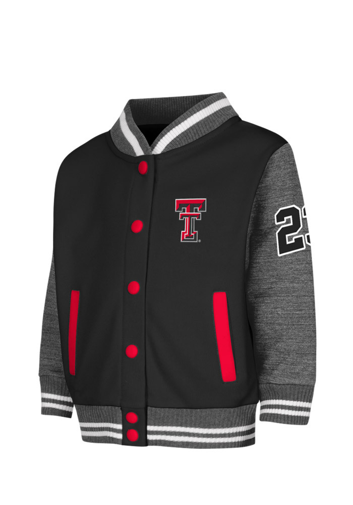 Texas Tech Red Raiders Toddler Black Toddler Sophomore Outerwear Light Weight Jacket - Image 1