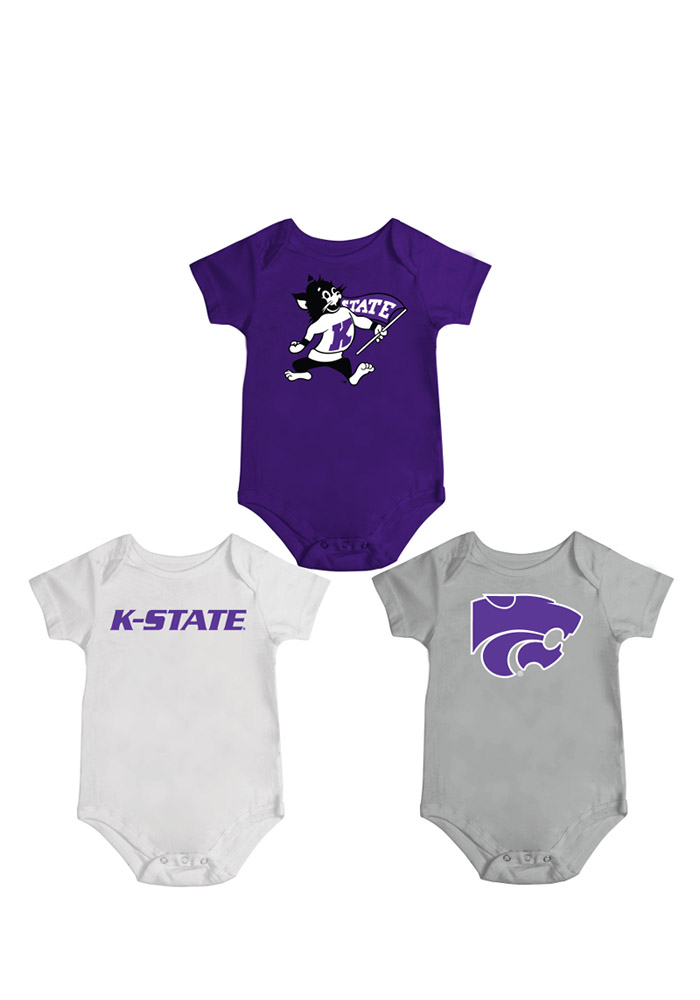 Colosseum K-State Wildcats Baby Purple Infant Triple Play Creeper 15033695