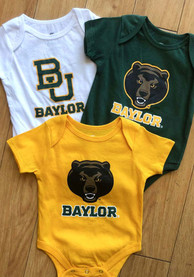 Baylor Bears Baby Maroon Infant Triple Play One Piece