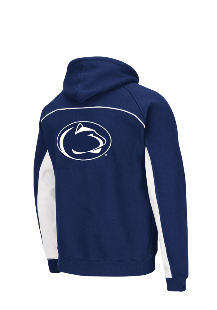 Colosseum Penn State Nittany Lions Mens Navy Blue Crest Big and Tall Hooded Sweatshirt - Image 2