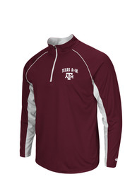 Colosseum Texas A&M Aggies Mens Lineman 1/4 Zip Pullover - Maroon