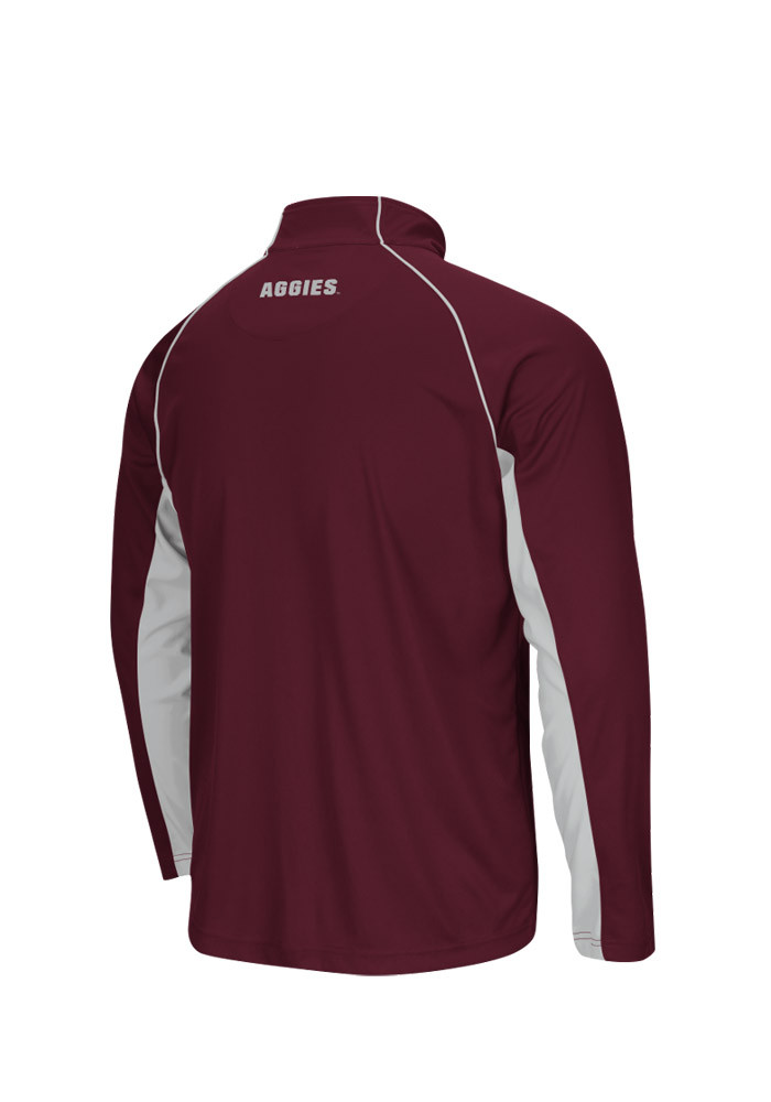 Colosseum Texas A&M Aggies Mens Maroon Lineman Big and Tall 1/4 Zip Pullover - Image 2