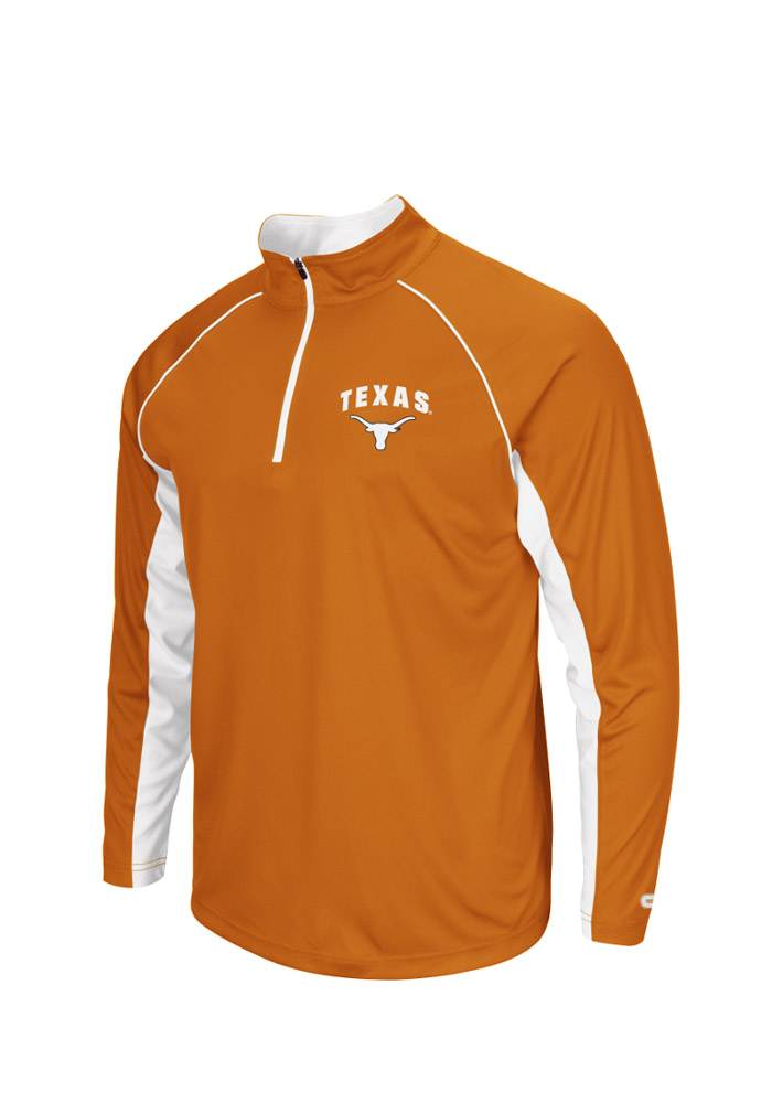 Colosseum Texas Longhorns Mens Orange Lineman Big and Tall 1/4 Zip Pullover - Image 1