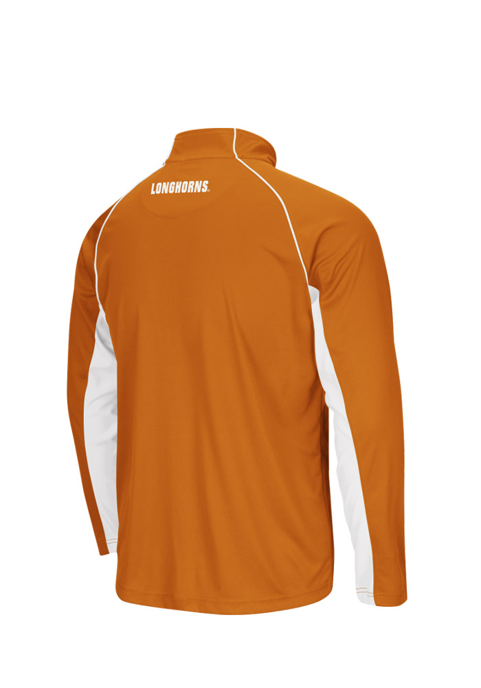 Colosseum Texas Longhorns Mens Orange Lineman Big and Tall 1/4 Zip Pullover - Image 2