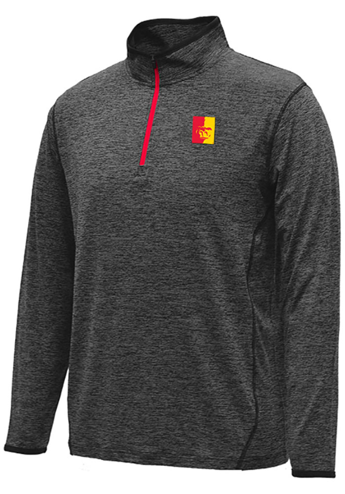 Colosseum Pitt State Gorillas Mens Black Action Pass Long Sleeve 1/4 Zip Pullover - Image 1
