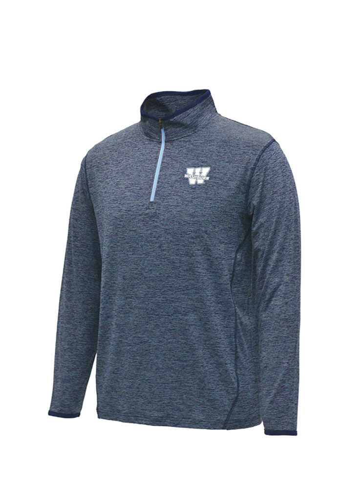 Colosseum Washburn Ichabods Mens Navy Blue Action Pass Long Sleeve 1/4 Zip Pullover - Image 1