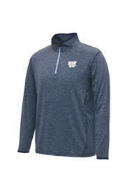 Colosseum Washburn Mens Navy Blue Action Pass 1/4 Zip Performance Pullover