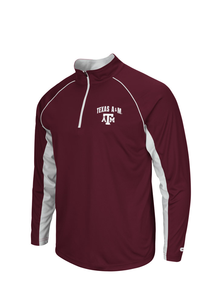 Colosseum Texas A&M Aggies Mens Maroon Lineman Big and Tall 1/4 Zip Pullover - Image 1