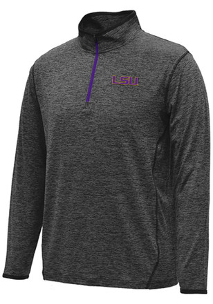 Colosseum LSU Tigers Mens Black Action Pass 1/4 Zip Pullover