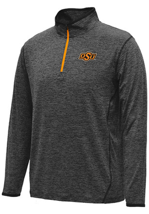 Colosseum Oklahoma State Cowboys Mens Black Action Pass 1/4 Zip Pullover