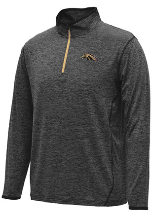 Colosseum Western Michigan Broncos Mens Black Action Pass 1/4 Zip Pullover