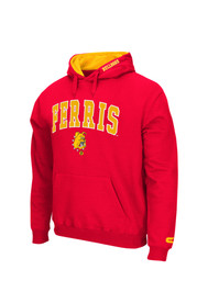 Colosseum Dogs Mens Red Zone Hoodie
