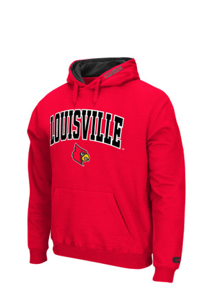 Colosseum Louisville Cardinals Mens Red Zone Hoodie