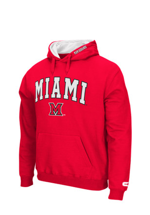 Colosseum Miami Redhawks Mens Red Zone Hoodie