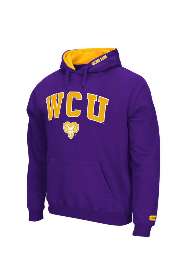 Colosseum West Chester Golden Rams Mens Purple Zone Long Sleeve Hoodie - Image 1