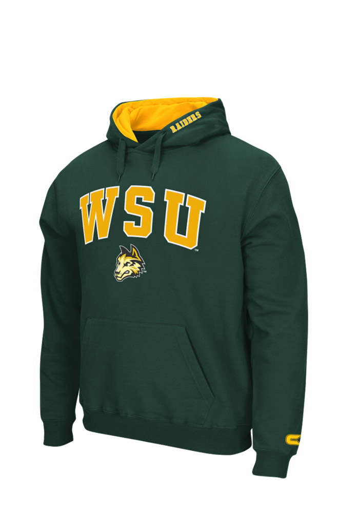 Colosseum Wright State Raiders Mens Green Zone Long Sleeve Hoodie - Image 1