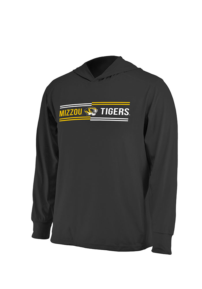 Colosseum Missouri Tigers Mens Black Windchill Long Sleeve Hoodie - Image 1
