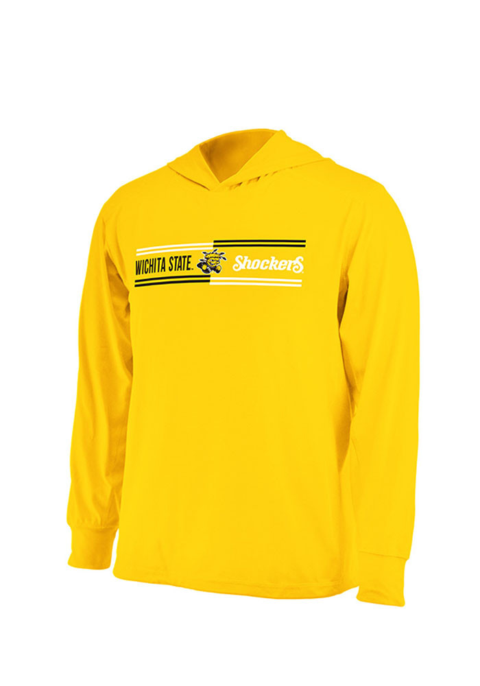 Colosseum Wichita State Shockers Mens Gold Windchill Long Sleeve Hoodie - Image 1