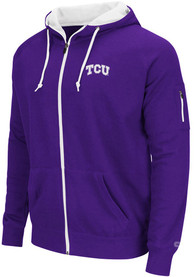Colosseum TCU Horned Frogs Mens Purple Cold Snap Full Zip Jacket