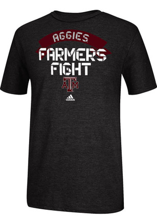 Adidas Texas A&M Aggies Mens Black School Ribbon Fashion Tee