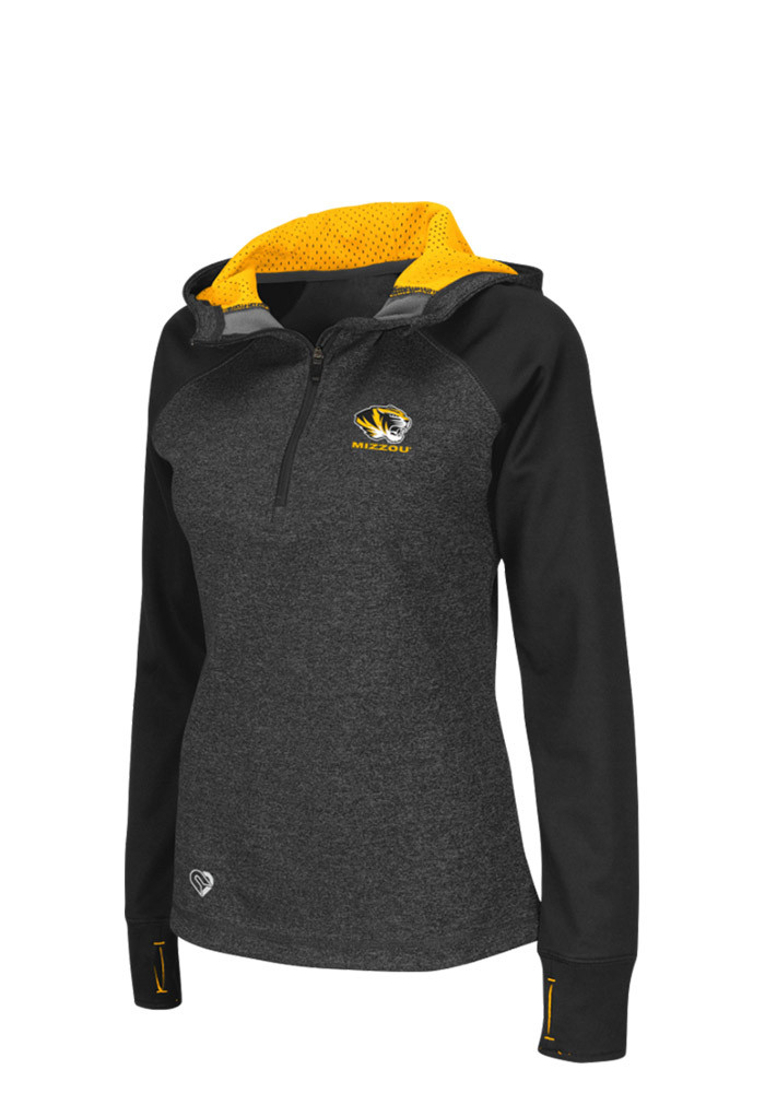Colosseum Missouri Tigers Womens Grey Freestyle 1/4 Zip Pullover - Image 1
