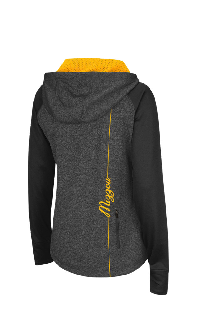 Colosseum Missouri Tigers Womens Grey Freestyle 1/4 Zip Pullover - Image 2