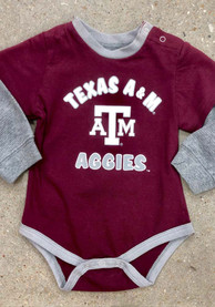 Colosseum Texas A&M Aggies Baby Maroon Infant Thermal One Piece