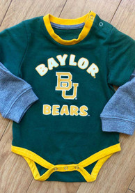 Colosseum Baylor Bears Baby Green Infant Thermal One Piece