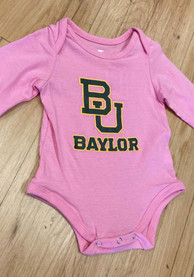 Baylor Bears Baby Pink Big Logo LS One Piece