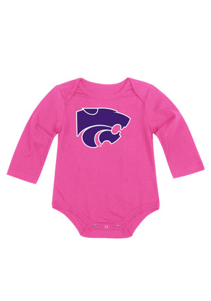 Colosseum K-State Wildcats Baby Pink Big Logo LS One Piece