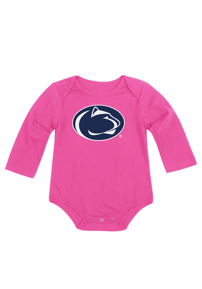 Colosseum Penn State Nittany Lions Baby Pink Big Logo LS Tops LS One Piece - Image 1