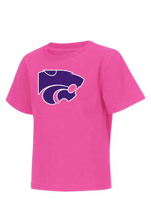 Colosseum K-State Wildcats Toddler Girls Pink Arch Mascot T-Shirt